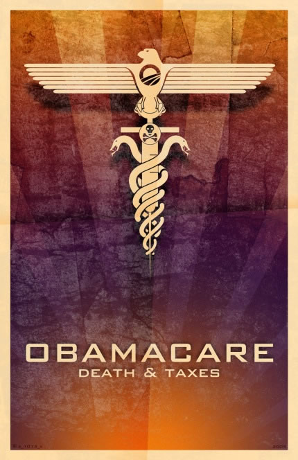 obamacare Nazi eagle death and taxes