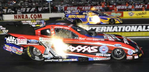 Courtney Force Defeats Ron Capps 2013 NHRA Winternationals