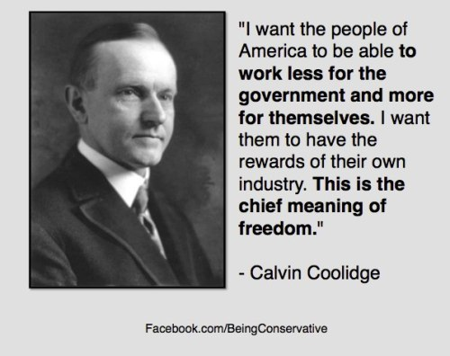 conservative calvin coolidge
