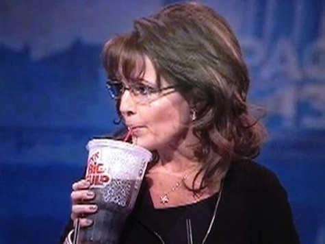 Sarah Palin CPAC2013 Big Gulp Closeup