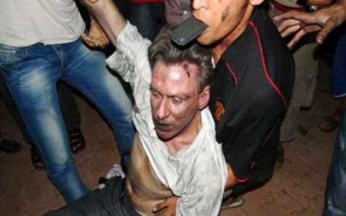Ambassador Stevens dragged through the streets of Benghazi