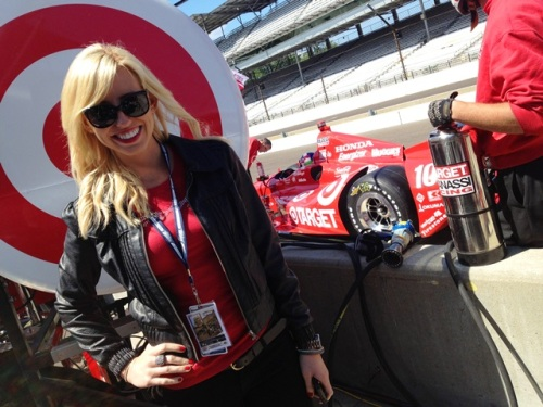 Courtney Force Indy 2013 Target Pits