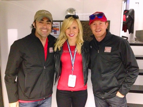 Force with Franchitti and Dixon