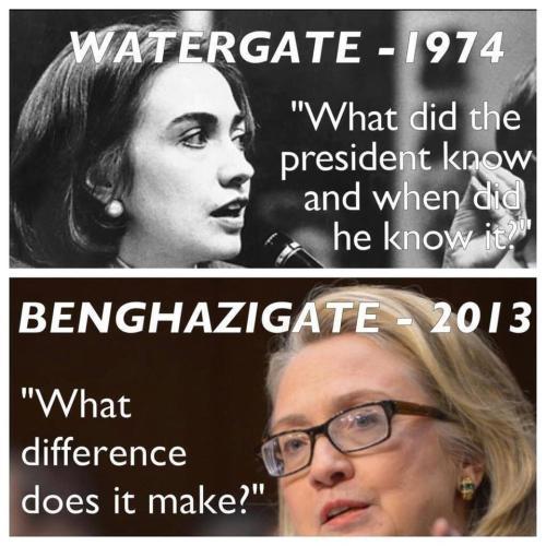 Hillary Watergate Benghazi
