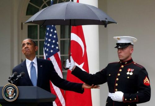 Obama Marine Unmbrella