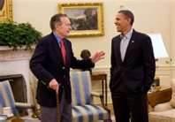 bush 41 and obama