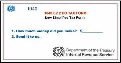 IRS 1040 EZ Simplified