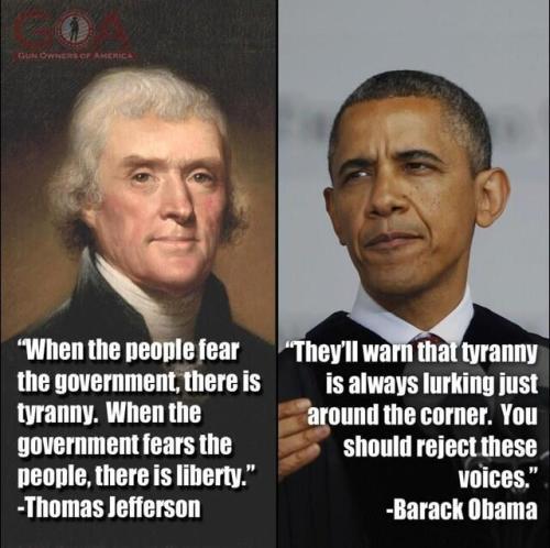 Jeffferson vs Obama