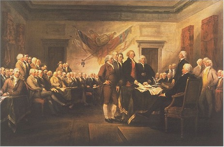 original painting of declaration