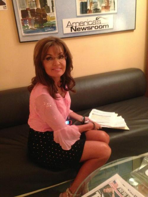 Sarah Palin in Green Room Fox and Friends