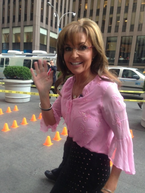 Sarah Palin Outside Fox Studio