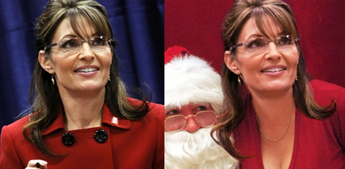 Sarah Palin Real-Photoshop Side-by-side