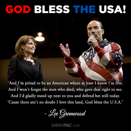 Sarah Palin Lee Greenwood God Bless The USA