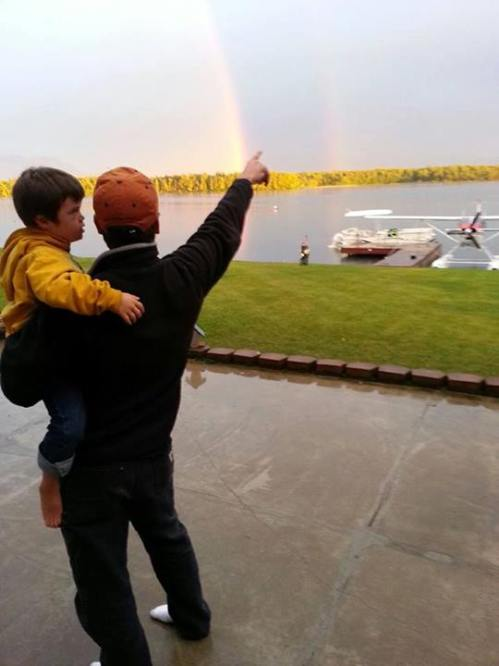 My pot of gold under a double rainbow. ~ Sarah Palin