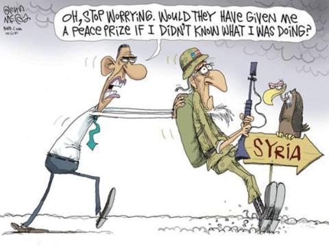 Obama Syria Stop Worrying Cartoon