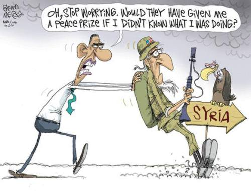 Obama Syria Stop Worrying Cartoon