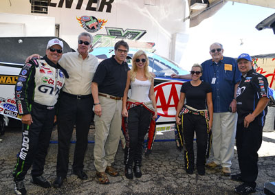 Perry with The Forces NHRA Dignitaries