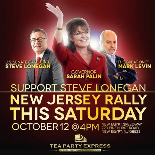 Palin Lonegan Levin Tea Party Express