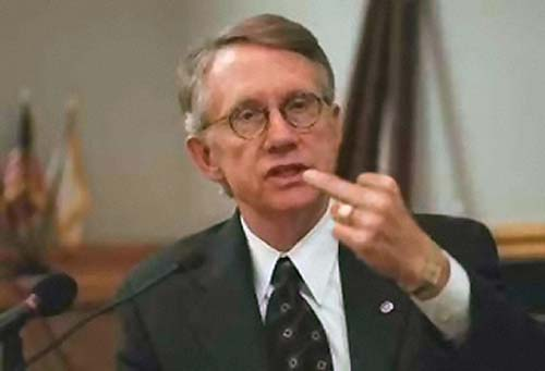 Harry Reid says Fuck You