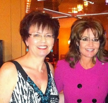 Jackie Siciliano and Sarah Palin