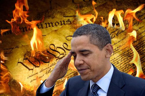Obama-constitution burning