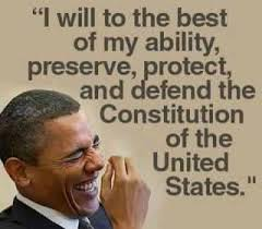 obama- defending constitution laughing
