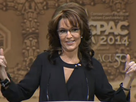 Palin CPAC 2014 Thumbs Up