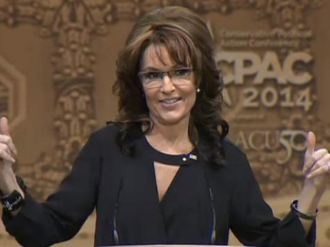 Palin CPAC 2014 Thumbs Up