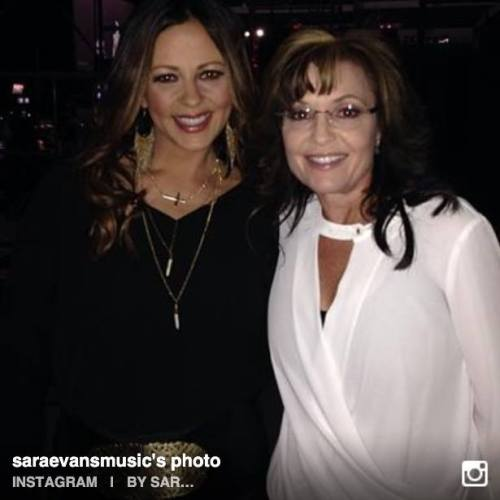 Sara Evans and Sarah Palin