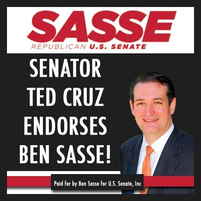 Sasse for Senat Cruz Endorsement