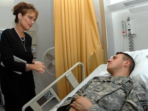 Sarah and a vet