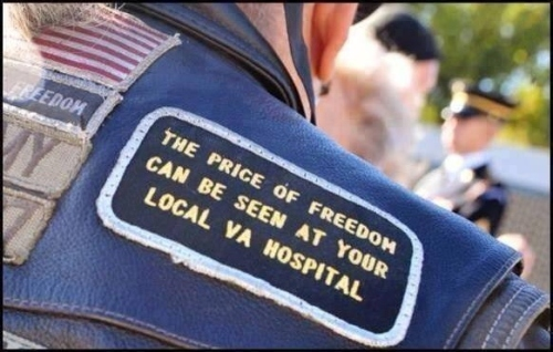 the price of freedom can be seen at your local VA hospital