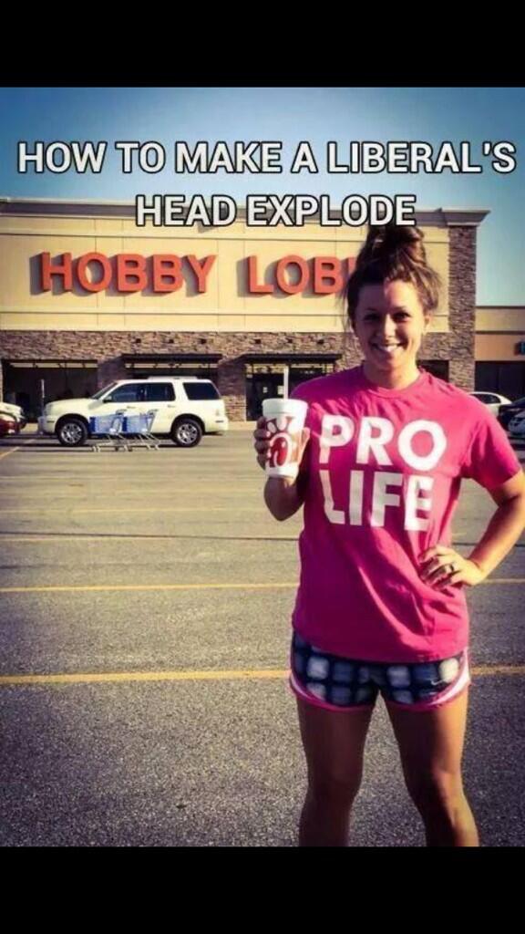 Hobby Lobby Chick Pro Life
