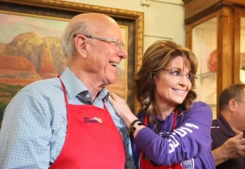 Governor Palin Senator Roberts Pancake 1