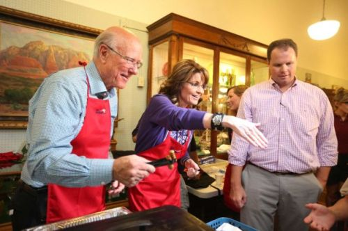 Governor Palin Senator Roberts Pancake 2
