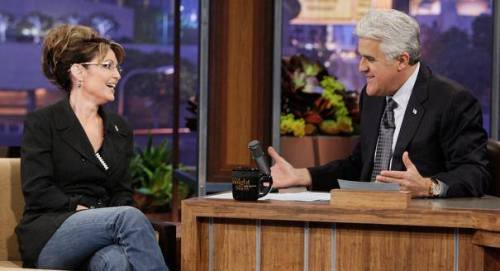 Governor Palin with Jay Leno