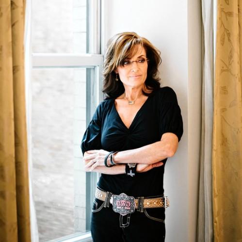 Sarah Palin in Western Wear Reflective Pose