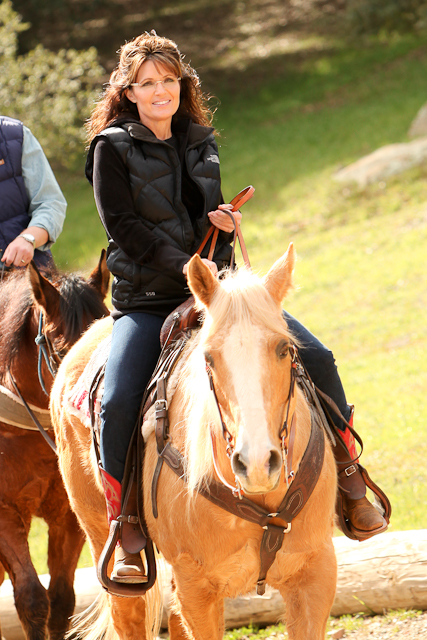 Sarah Palin at Reagan Ranch on Horseback