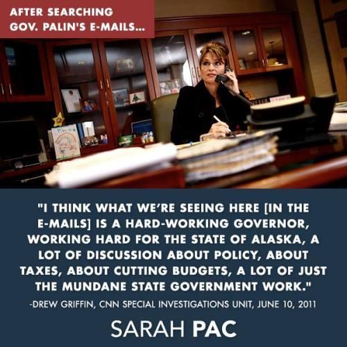 Sarah Palin email Truth
