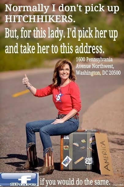 Sarah Palin Hitchhiking
