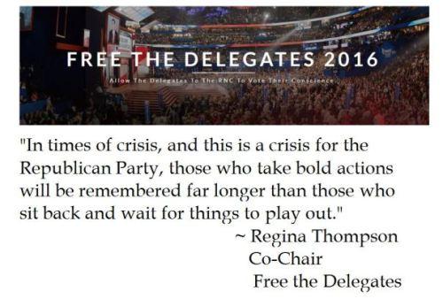 Free The Delegates Regina Thompson Quote